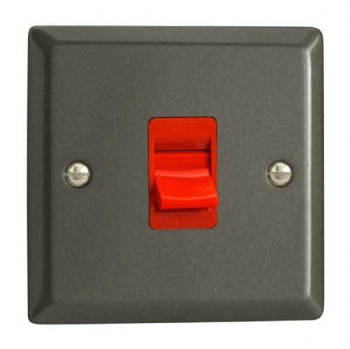 Varilight XP45S Classic Graphite 21 45A DP Cooker Switch Single Plate